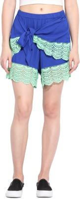 Paprika Solid Women's Blue, Green Culotte Shorts