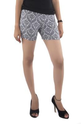 Vostro Moda Printed Women's Black Basic Shorts