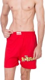 Gabi Printed Men's Red Night Shorts
