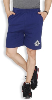 Live In Solid Men's Dark Blue Sports Shorts
