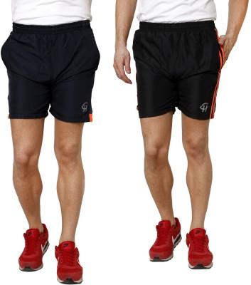 Gen Solid Men's Orange Gym Shorts