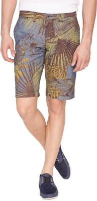 The Indian Garage Co. Printed Men's Green Basic Shorts