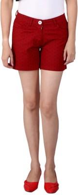 Ramarrow Printed Women's Red Board Shorts