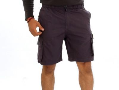 Mountain Colours Solid Men's Reversible Blue Basic Shorts