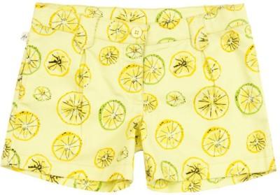 Aristot Printed Girl's Yellow Beach Shorts