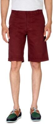 Allen Solly Solid Men's Maroon Basic Shorts