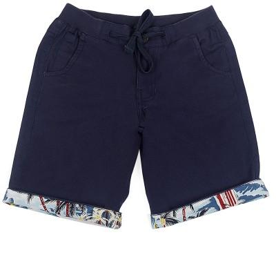Cub Solid Boy's Blue Bermuda Shorts