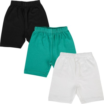 Lula Solid Girl's Black, Green, White Cycling Shorts