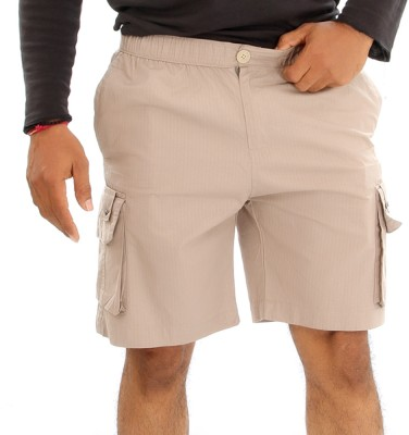 Mountain Colours Solid Men's Reversible White Basic Shorts