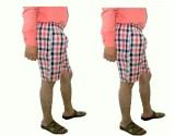 Eultra Checkered Men's White Basic Short...