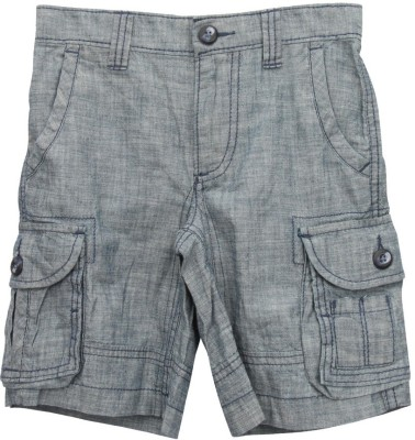 TonyBoy Solid Boy's Grey Bermuda Shorts