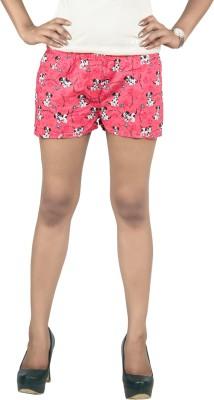 Fizzaro Striped Women's Pink Denim Shorts