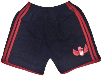 Tomato Solid Boy's Dark Blue Basic Shorts
