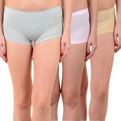 Mynte Solid Women's Blue, Pink, Brown Cycling Shorts, Gym Shorts, Swim Shorts