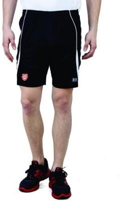 T10 Sports Solid Men's Black Running Shorts