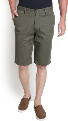Blackberrys Solid Men's Green Chino Shorts