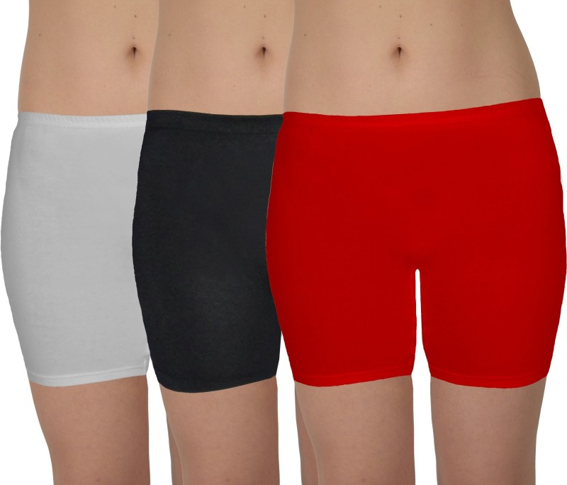 Selfcare Solid Women's Multicolor Cycling Shorts