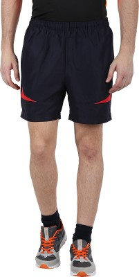 Klamotten Solid Mens Black, Red Running Shorts