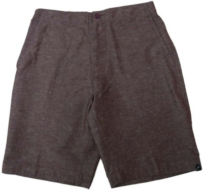 Acetone Solid Mens Brown Basic Shorts