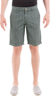Shuffle Printed Men's Blue Chino Shorts