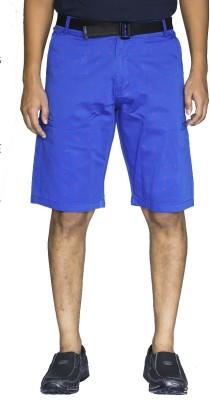 0-Degree Printed Men's Blue, Red Beach Shorts