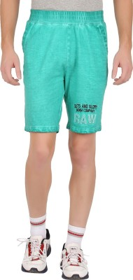 GUTS N GLORY Printed Men's Green Sports Shorts