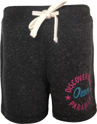 Vitamins Solid Girl,s Grey Basic Shorts
