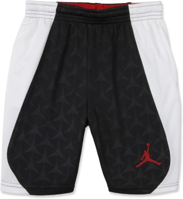 Jordan Kids Self Design Boy's Black, White Basic Shorts