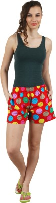 Below The Belt Printed Women's Multicolor Night Shorts