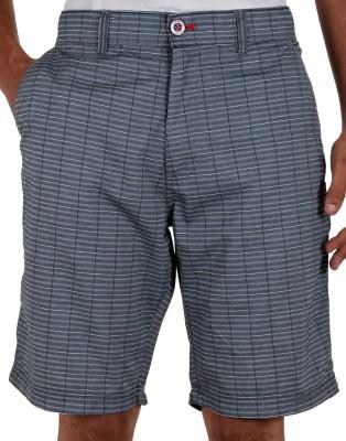 Faraday Striped Men's Grey Basic Shorts