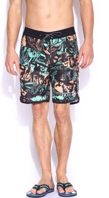 VANS Printed Men's Black Basic Shorts