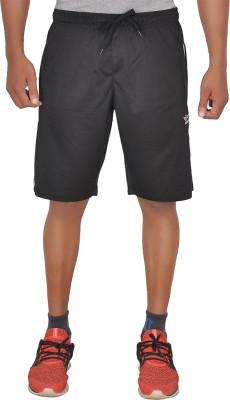 SCHOLAR Solid Men's Black Sports Shorts