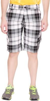 Ramarrow Checkered Men's Black, White Cargo Shorts