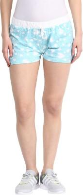 Rose Vanessa Printed Women's Reversible Blue, White Basic Shorts