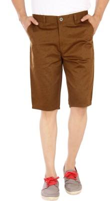 Studio Nexx Printed Men's Yellow Basic Shorts