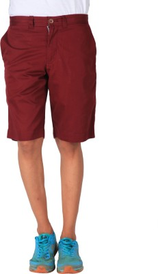 Blacksoul Solid Men's Maroon Chino Shorts