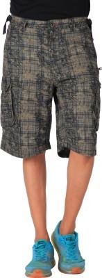 Blacksoul Printed Men's Brown Cargo Shorts