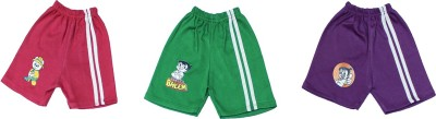 Tiny Toon Solid Baby Boy's Green, Purple, Pink Basic Shorts