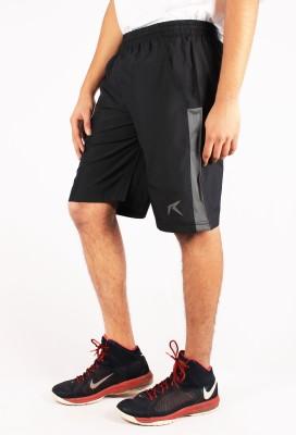 Repugn Woven Men's Black Sports Shorts