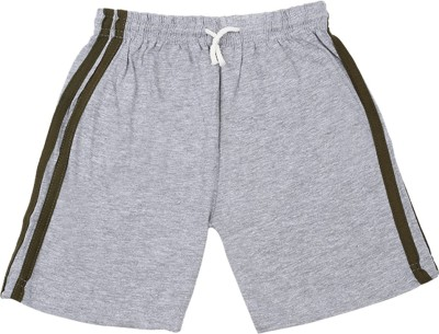 Rishan Solid Boy's Grey Basic Shorts