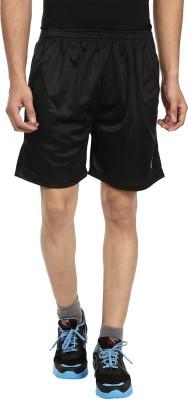 Fashion Flag Solid Men's Black Basic Shorts