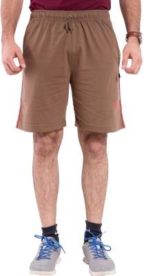 Lingo Striped Men's Brown Basic Shorts