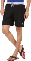 Wild Originals Solid Men's Black Basic Shorts