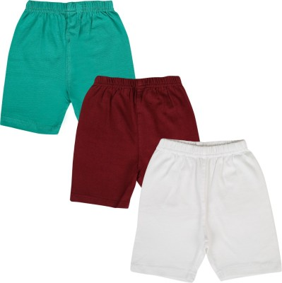 Lula Solid Girl's Green, Maroon, White Cycling Shorts