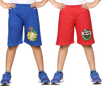 Dongli Printed Boys Multicolor, Red Sports Shorts