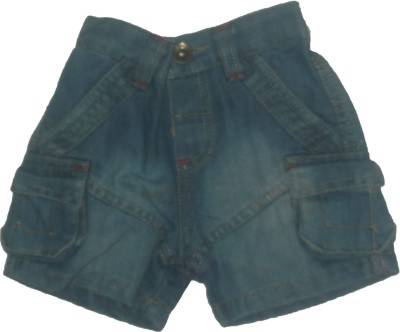 Red Rose Woven Baby Boys Dark Blue Denim Shorts