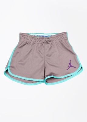 Jordan Kids Self Design Girl's Grey Sports Shorts