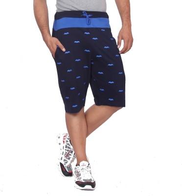 Black Casual Printed Men's Multicolor Basic Shorts