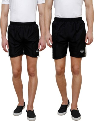 Grand Bear Self Design Men's Black, Black Boxer Shorts