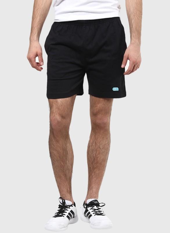 Ajile by Pantaloons Solid Men's Black Gym Shorts